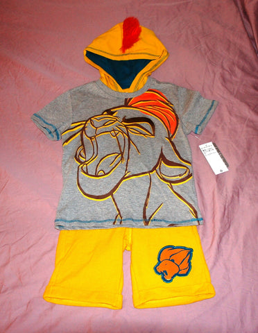 Authentic Disney Store The Lion King:Simba Short Knit Cotton Set - Boys Size:5/6