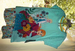 Original Disney Store Frozen Elsa & Anna Summer Set (Top & Skirt) Girls 9/10