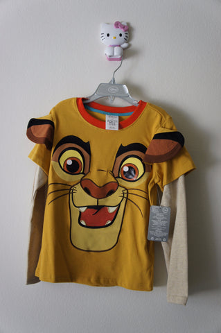 Disney Store The Lion King: Simba Long Sleev T-Shirt - Boys Size:5/6