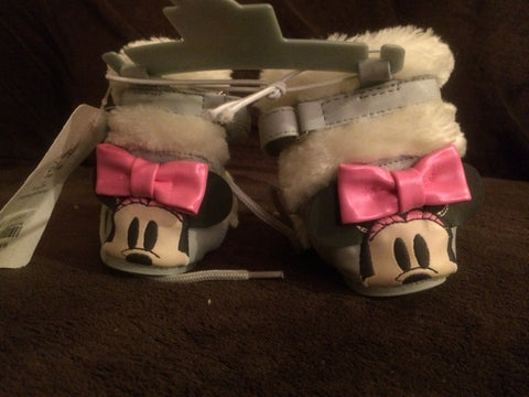 Disney Store Fall/Winter Minnie Mouse Booties -Baby Girls US 18-24M,UK:5,Euro:22