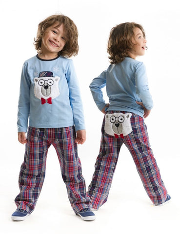 Deno Kids Polar Bear Pajama Set - Baby, Toddler & Boys 1Y, 2Y, 3Y, 4, 5Y, 6Y