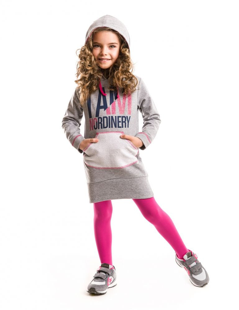 Mushi Fall Nordinery Hooded Dress - Toddler & Girls 3Y, 4Y, 5Y, 6Y, 7Y, 8Y