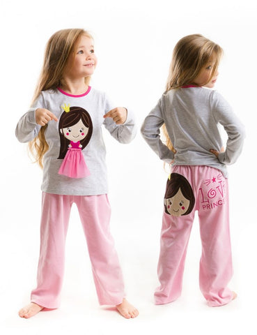 Deno Kids Princess Pajama Set -Infant,Toddler & Girls 1Y, 2Y, 3Y, 4Y, 5Y, 6Y, 7Y - LinaAndMickey