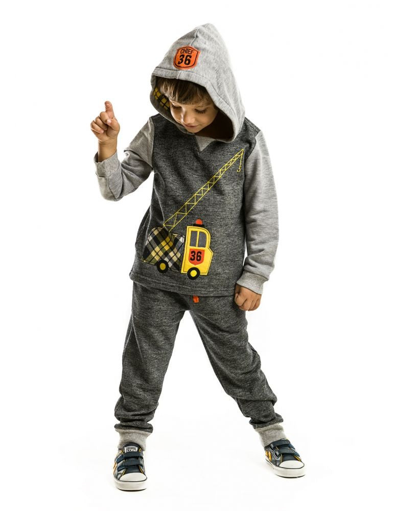 MUSHI Fall  Crane Hooded Tracksuit - Infant,Toddler & Boys