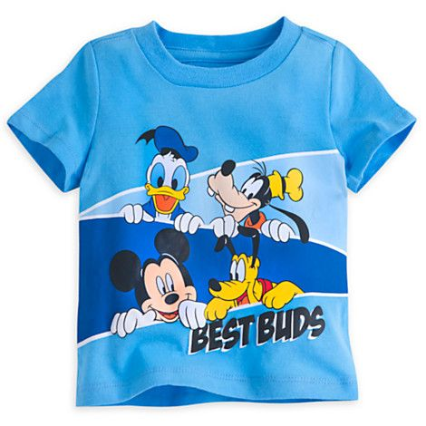 Authentic Disney Store: Donald Goofy Mickey Pluto Organic T-Shirt Baby-Boys 6-9M, 12-18M