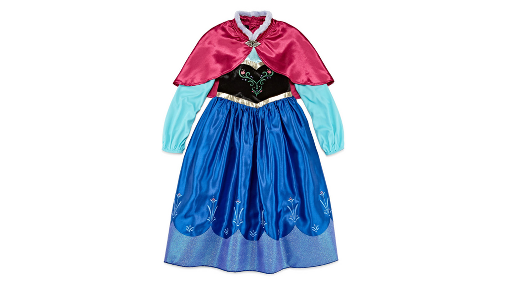 Authentic Disney Store Halloween Frozen Anna Dress Up Costume-Girls Size:9/10