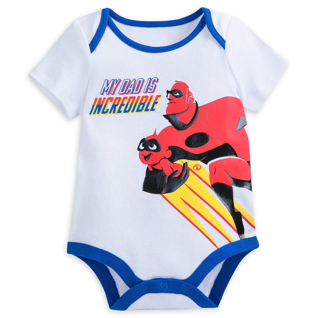 Authentic Disney Store Incredibles 2 Bodysuit White Baby Boy 18-24 Months