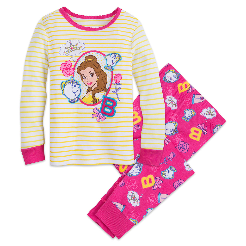 109c4d6a2 Authentic Disney Store Beauty & the Beast Belle PJ PALS Set for Girls –  LinaAndMickey