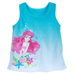Authentic Disney Store Ariel The Little Mermaid Pants Set for Girls Size:7-8 Slim