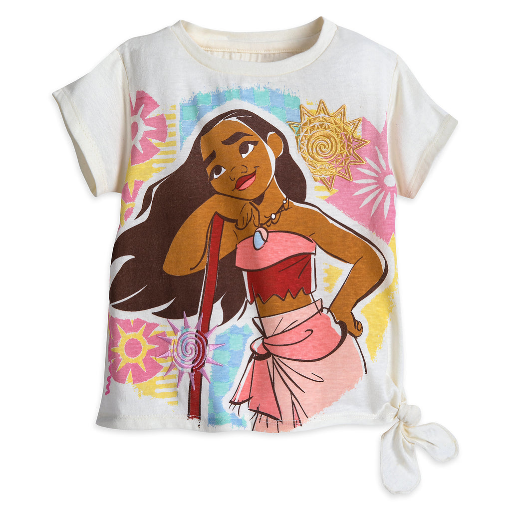 Authentic Disney Store Moana Shirt and Skirt Set for Girls Size:9/10