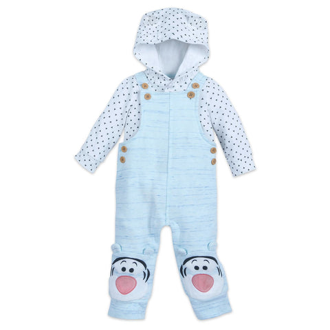 Authentic Disney Store Tigger Dungaree Set for Baby Boy/Girl, Unisex 18-24M