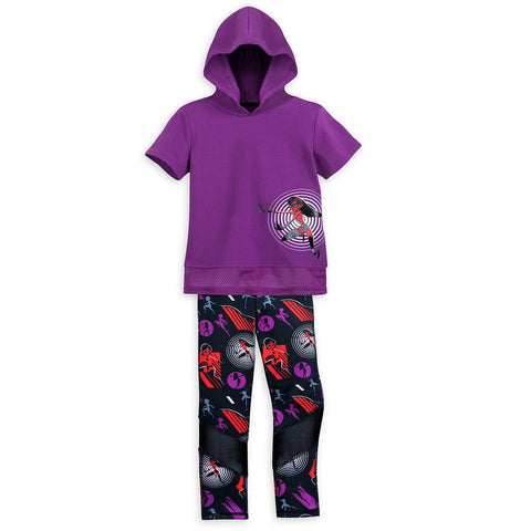 Authentic Disney Store Incredibles 2 Hooded Top and Leggings Set Girls Size:9-10