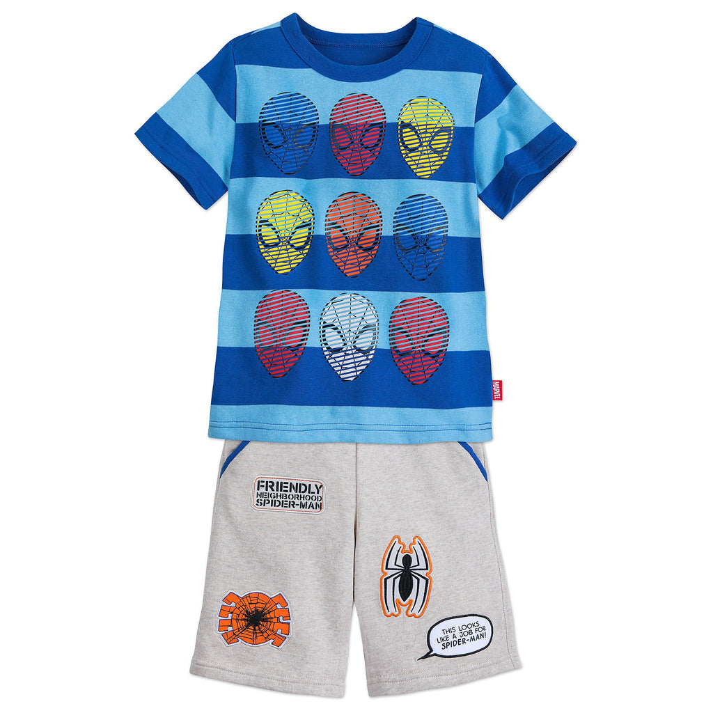 Authentic Disney Store Spider-Man Shirt and Shorts Set Boy Size:4