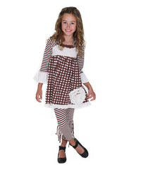 Jelly The Pug Brown & White Into the Woods Lillipop Dress -Girls 2T