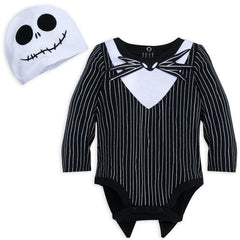 Authentic Disney Store Jack Skellington Costume Bodysuit & Hat Baby Boy 9-12M