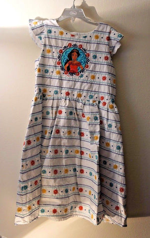 Disney Store Elena From Avalor Cotton Dress - Girls Size:9/10