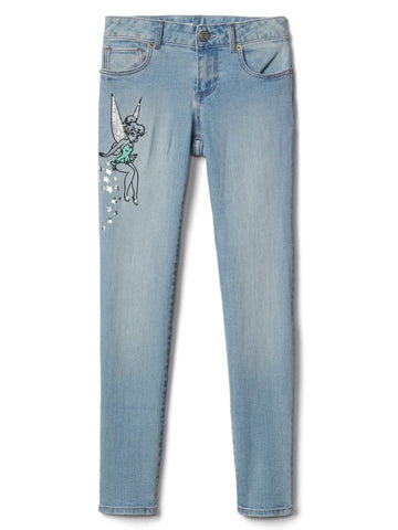Mid Rise GapKids | Disney Tinkerbell Super Skinny Jeans in High Stretch Girls 10