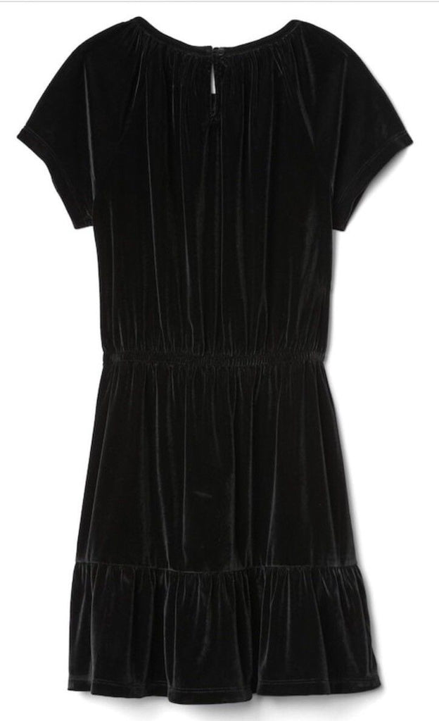Gap Kids Girls Black Velvet Keyhole Tiered Dress Size Small 6-7