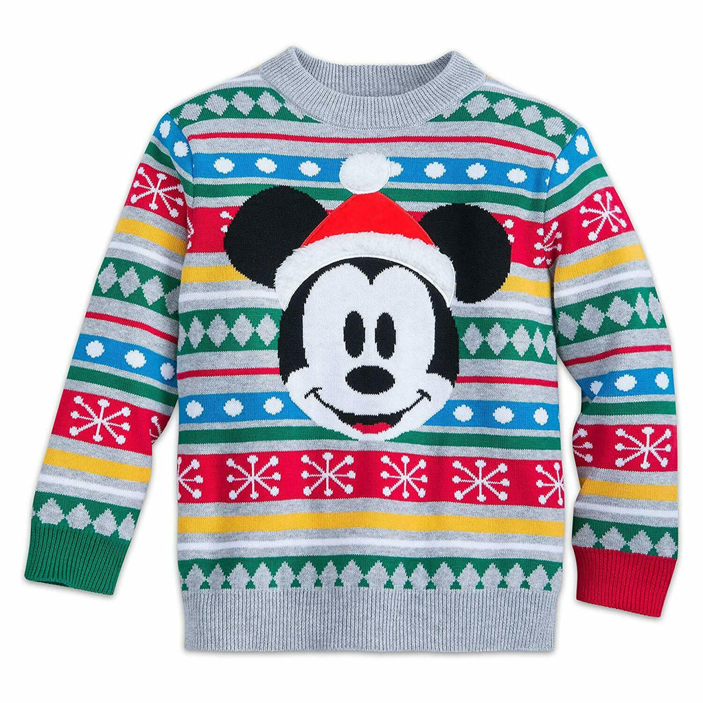 Authentic Disney Store Mickey Mouse Holiday Sweater Multi - Baby Boy 0-3M, 3-6M