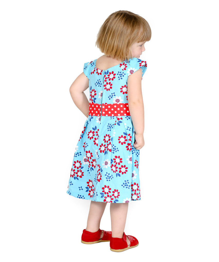 Jelly The Pug Blue Alex Dress - Girls Size:4