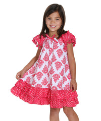 Jelly The Pug 2016 Boho Allie Woven Dress -Toddler & Girls 2T,3T,4,5,6,7,8,12,14
