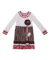 Jelly The Pug Brown & White Into the Woods Lillipop Dress - Girls 2T,3T,4,5,14