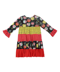 Jelly the Pug Candy Apple Cameron Knit Dress - Toddler Girls Size:2T, 3T, 4, 5