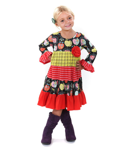 Jelly the Pug Candy Apple Cameron Knit Dress - Toddler Girls Size: 2T