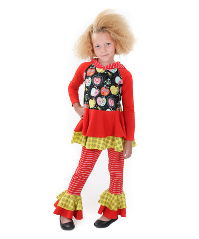 Jelly The Pug Candy Apple Tiffany Knit Tunic & Pants