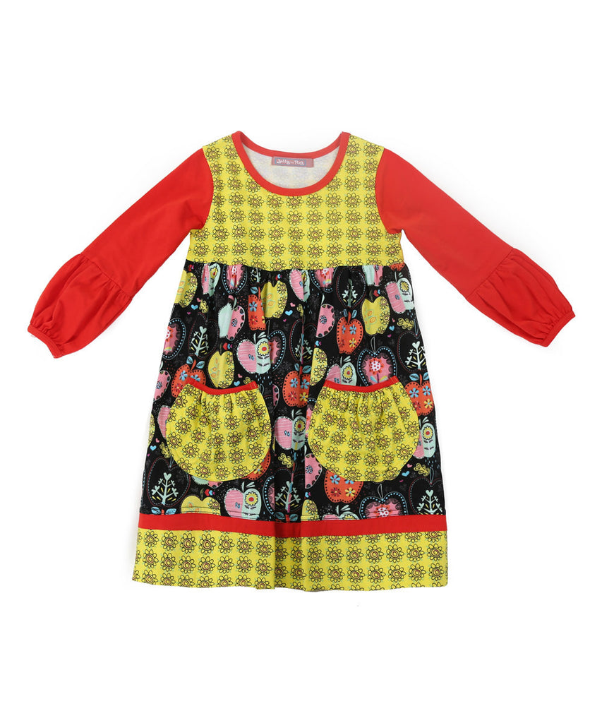 Jelly The Pug Candy Apple Delany Knit Dress 2T, 3T, 4, 5, 6