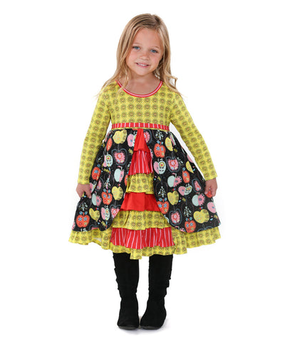 Jelly The Pug Candy Apple Hannah Knit Dress - Girls