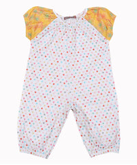 Jelly The Pug 2017 White Paris Polka Dot Sammy Playsuit - Baby Girls 9M