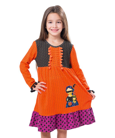 1c45c19d2ed Jelly The Pug 2017 Orange Polka Dot Deborah Dress - Girls 2T