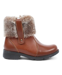 Dogi Kids Footwear Light Brown Nina genuine Leather Winter Bootie Girl Size:11.5