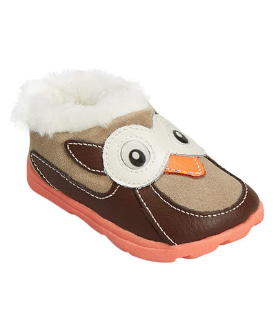 Zoolingans Chocolate & Taupe Owl Clog Girls Size:Little Kid:13, Little Kid:1