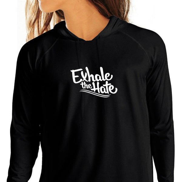 Exhale The Hate Womens Hoodie