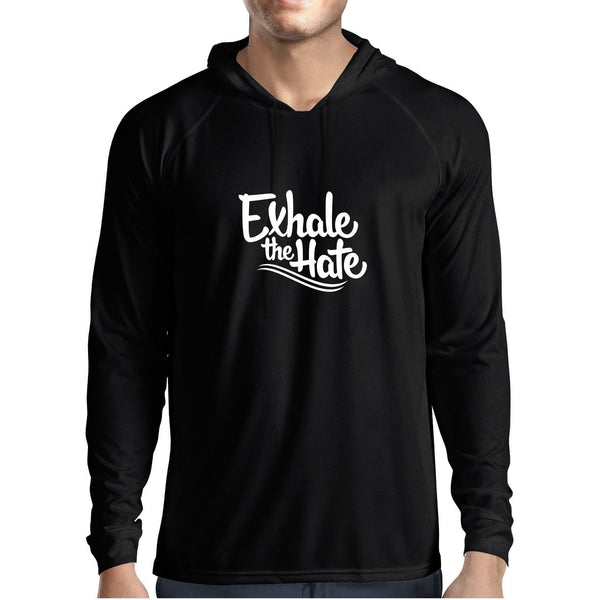Exhale The Hate Mens Hooded Tee