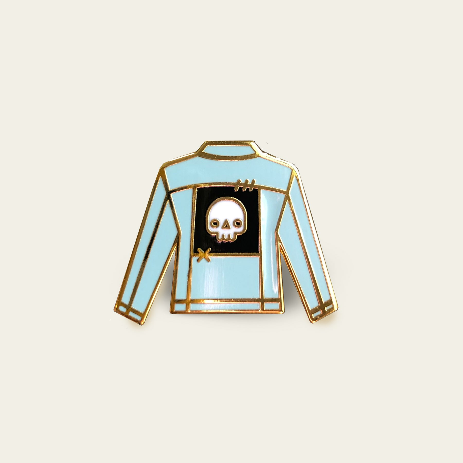 Blue Jacket with Patch Enamel Pin