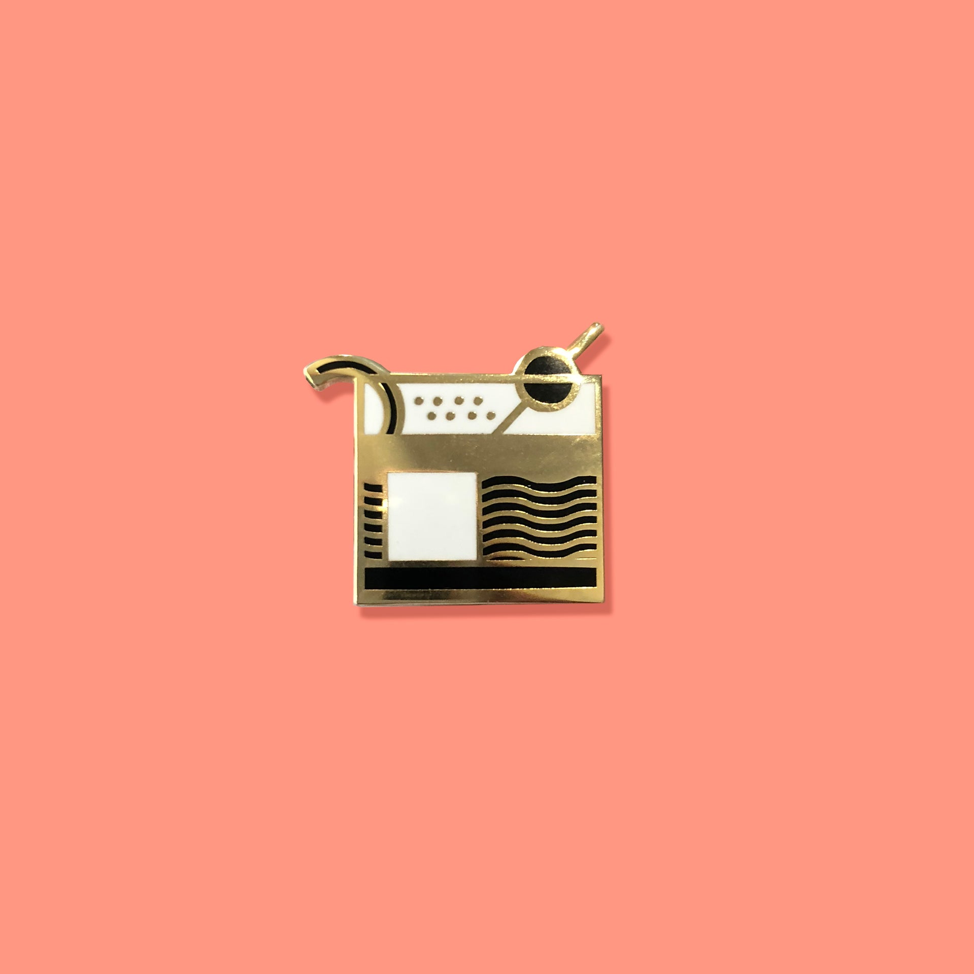 Old Fashioned Cocktail Enamel Pin