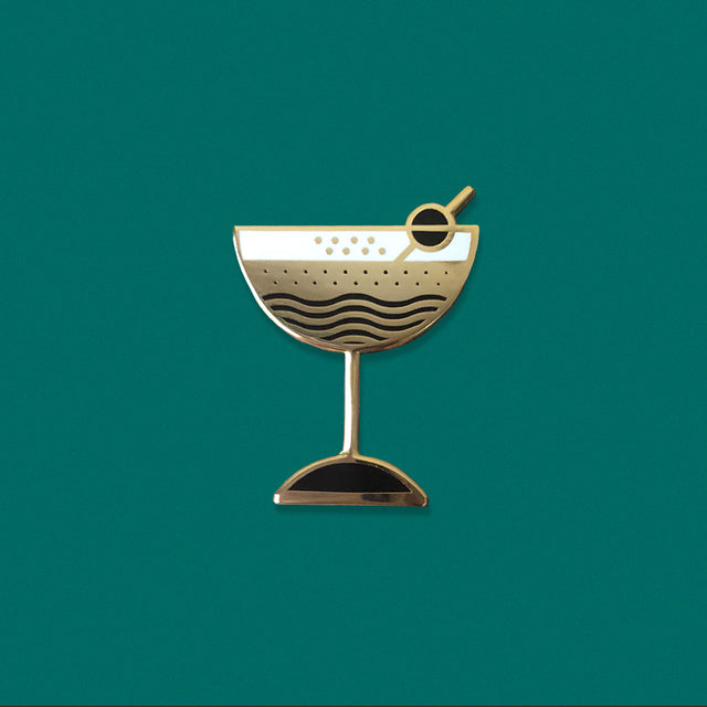 Manhattan Cocktail Enamel Pin