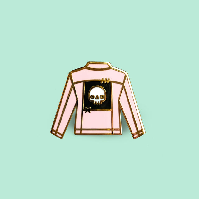 Pink Jacket with Patch Enamel Pin