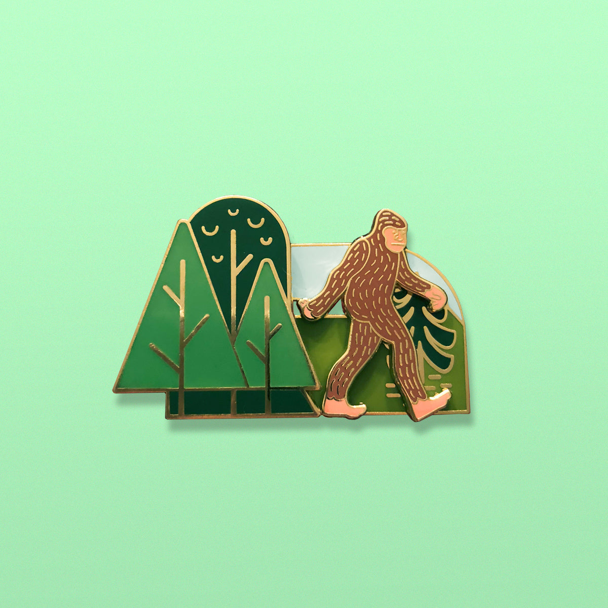 Sasquatch Slider Enamel Pin