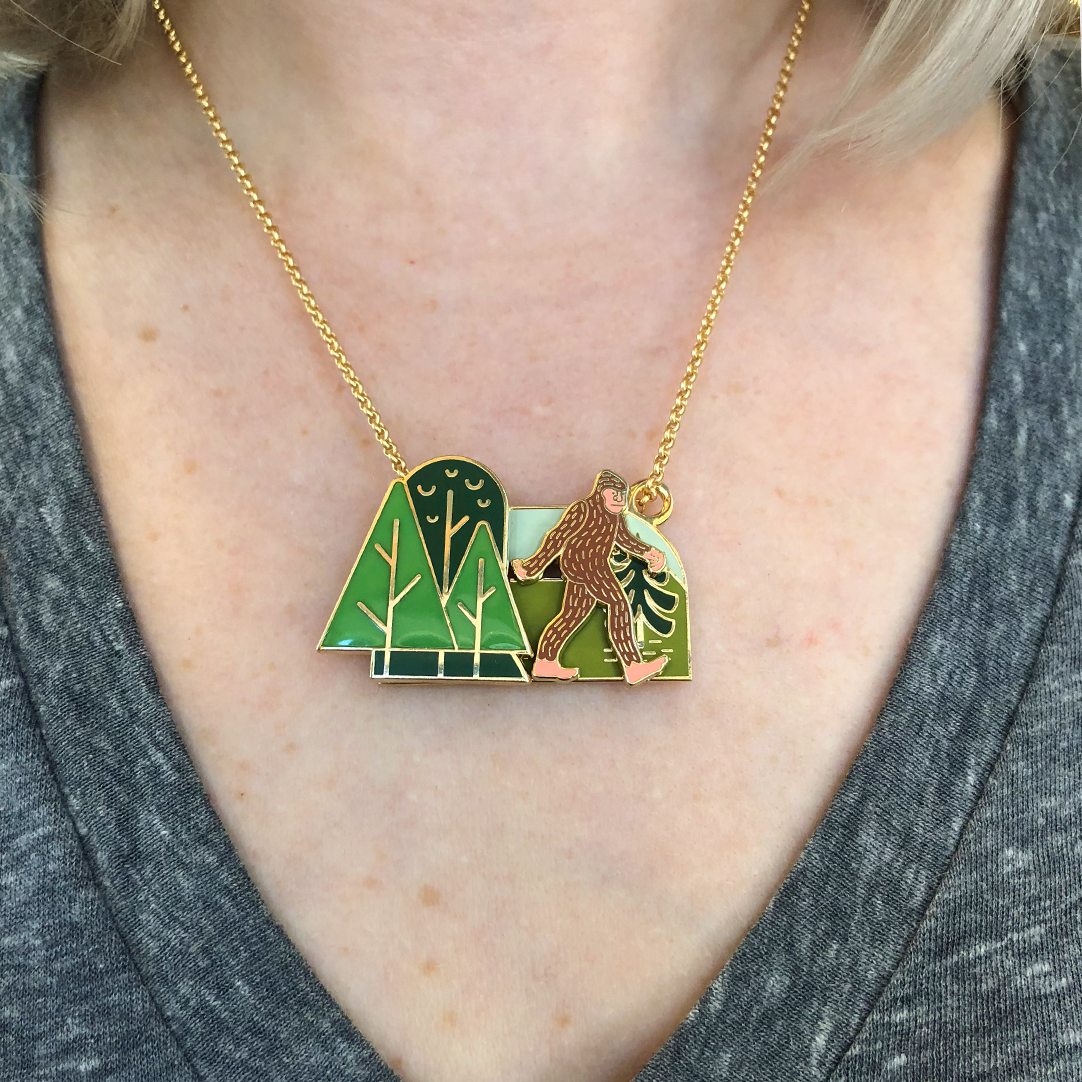 Sasquatch Slider Necklace