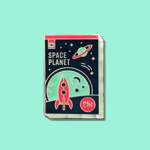 Space Planet Enamel Pin