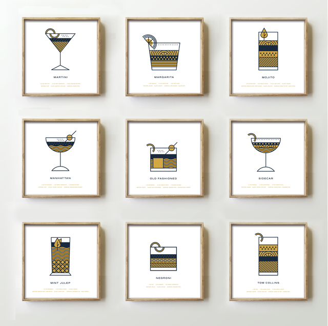 Set of Cocktail Prints