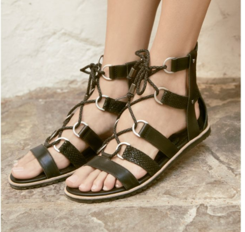SOREL ELLA LACE UP SANDAL