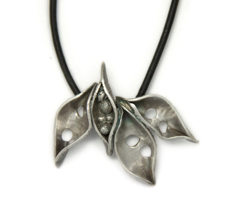 Silver Metal Clay Class Student Necklace