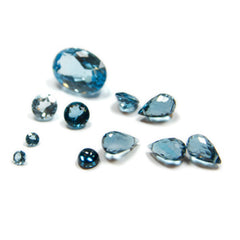 Blue Topaz Birthstone Charms and Pendants