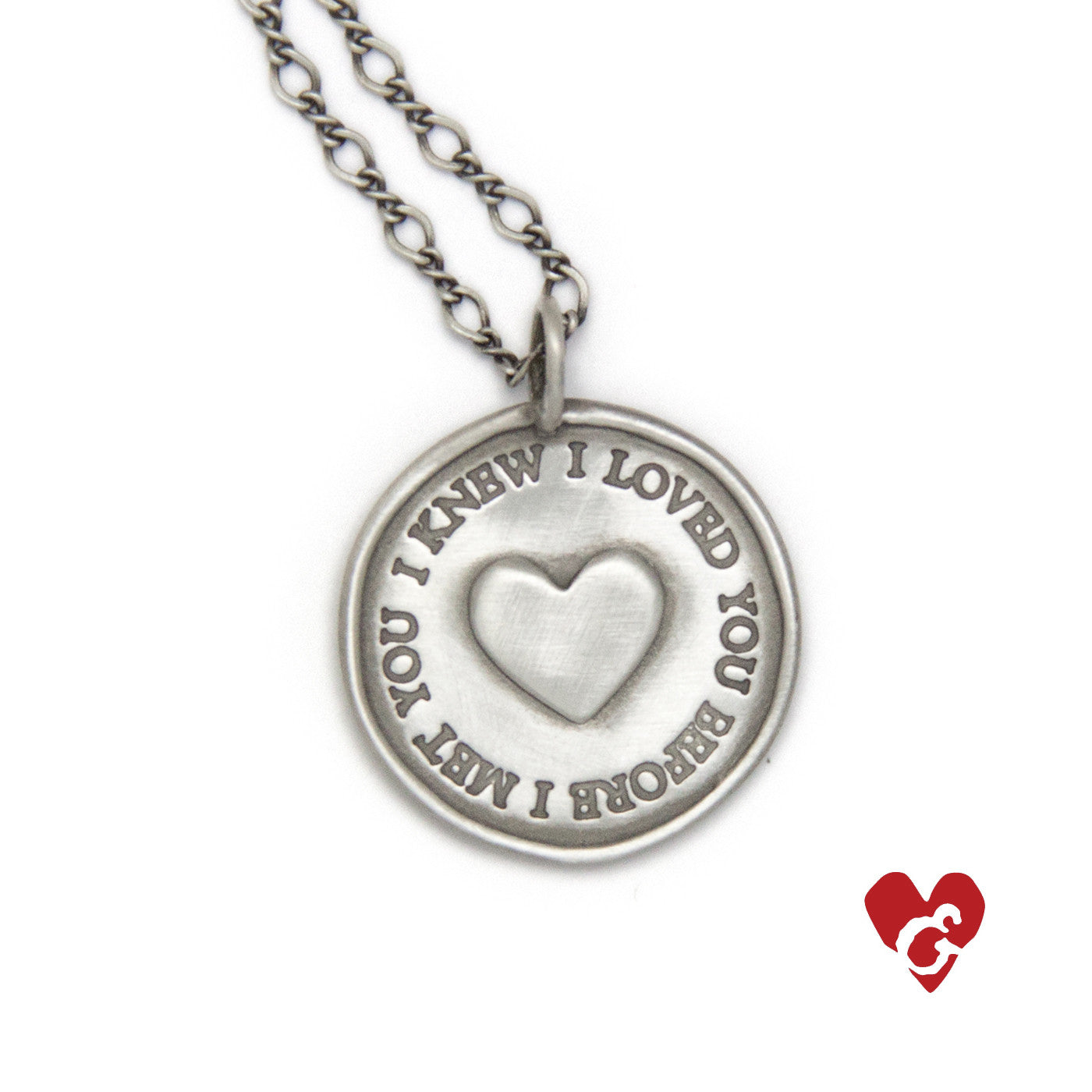 I Knew Necklace Heart And Stone Jewelry