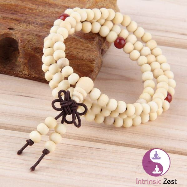 IZ Sandalwood Prayer Bead Bracelet - https://www.Intrinsiczest.com